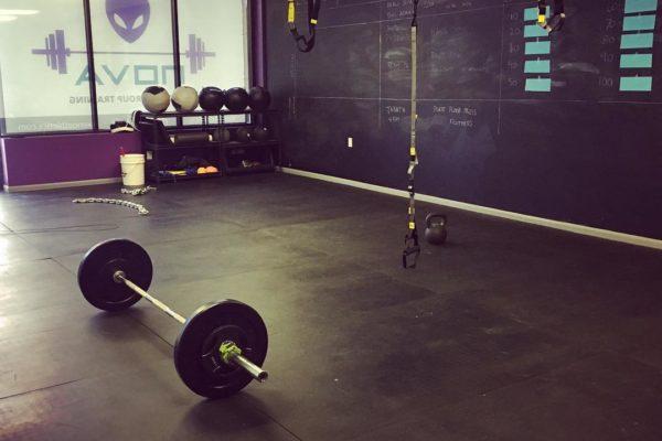 Gym setup, ready for a workout!